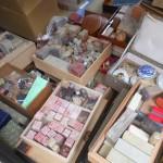 石印材や篆刻石、硯、墨、筆など書道道具をお売り頂きました