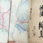 久奈尻島(国後島)図絵や宮古港湾地図など肉筆の絵図をお譲り頂きました